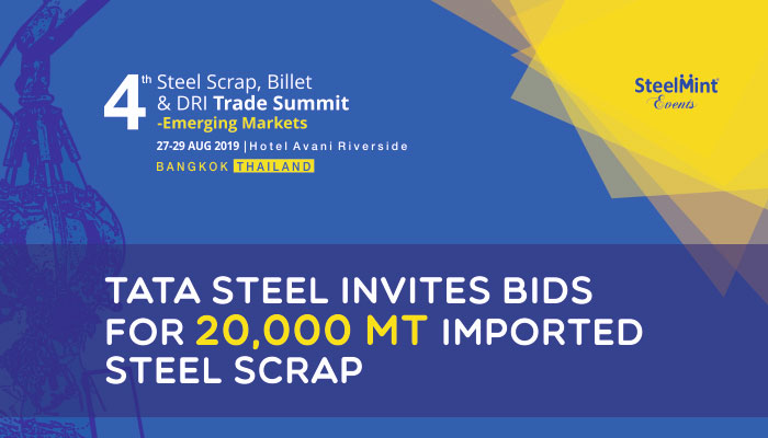 Tata Steel Invites Bids for 20,000 MT Imported Steel Scrap