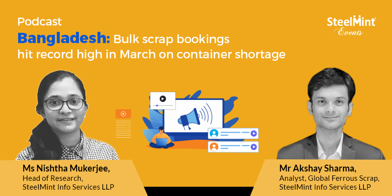 Bulk scrap bookings hit record high in March on container shortage